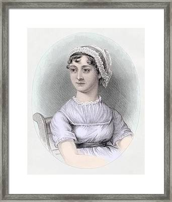 Portrait Of Jane Austen Framed Print by Cassandra Austen
