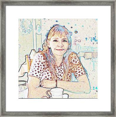 Portrait Of Janet Framed Print