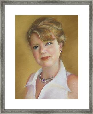 Portrait Of Jeanie Framed Print by Melanie Miller Longshore