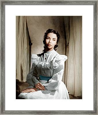 Portrait Of Jennie, Jennifer Jones, 1948 Framed Print by Everett