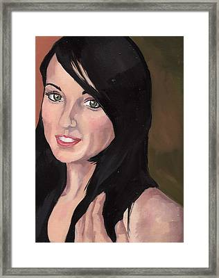 Portrait Of Jessa Framed Print