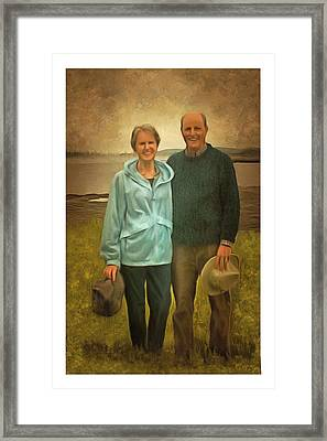 Portrait Of Joe And Denise Framed Print
