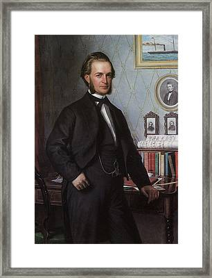 Portrait Of Johan Hansen Framed Print by Carl Bloch