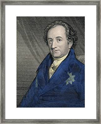 Portrait Of Johann Wolfgang Von Goethe Framed Print by German School