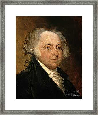Portrait Of John Adams Framed Print by Gilbert Stuart