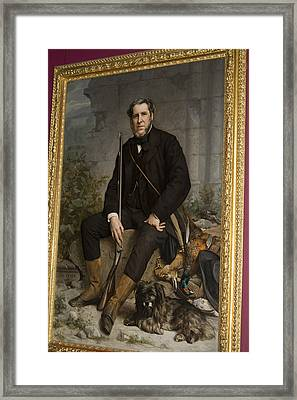 Portrait Of John Bowes Framed Print by Carl Purcell