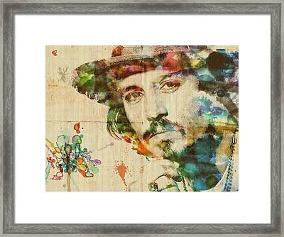 Portrait Of Johnny Framed Print