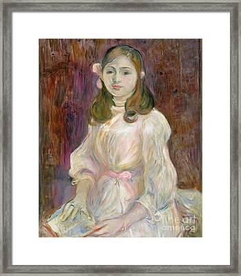 Portrait Of Julie Manet Framed Print by Berthe Morisot
