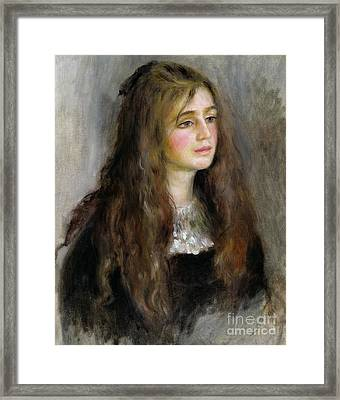 Portrait Of Julie Manet  Framed Print