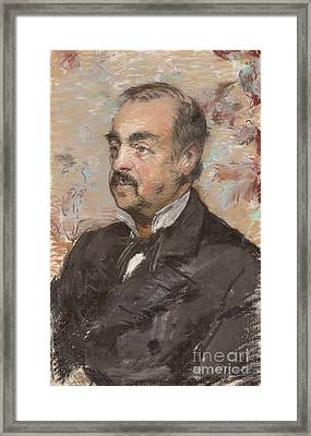 Portrait Of Julien De La Rochenoire By Edouard Manet Framed Print by Esoterica Art Agency