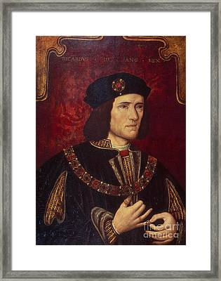Portrait Of King Richard IIi Framed Print