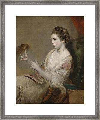 Portrait Of Kitty Fisher Framed Print by Joshua Reynolds
