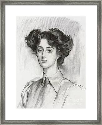 Portrait Of Lady Elsie Meyer, February 1908 Framed Print