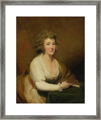 Portrait Of Lady Nasmyth Framed Print by Henry Raeburn