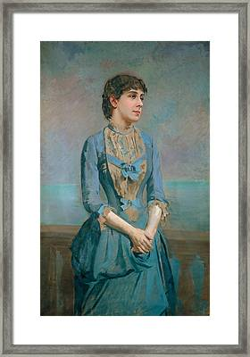 Portrait Of Llusa Dulce I Tresserra Framed Print by Celestial Images