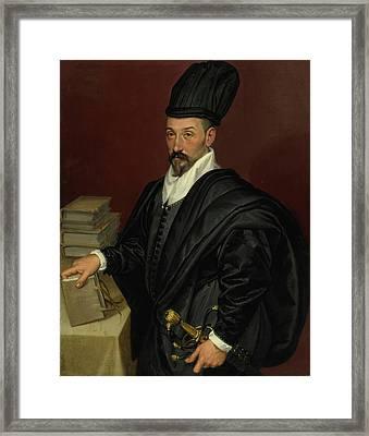 Portrait Of Lope Varona Di Villanahue Of Burgos Framed Print