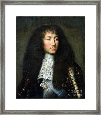 Portrait Of Louis Xiv Framed Print