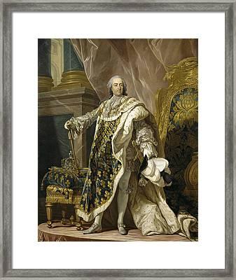 Portrait Of Louis Xv Of France Framed Print