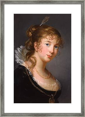 Portrait Of Louisa Princess Radziwill  Framed Print by Elisabeth Louise Vigee-Lebrun