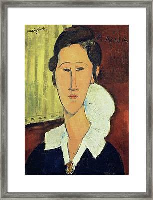 Portrait Of Madame Hanka Zborowska, 1917 Framed Print by Amedeo Modigliani