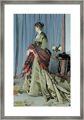 Portrait Of Madame Louis Joachim Gaudibert Framed Print by Claude Monet