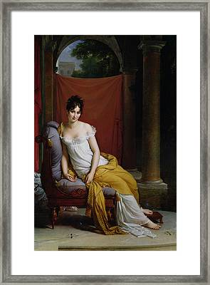 Portrait Of Madame Recamier Framed Print by Francois Pascal Simon Gerard