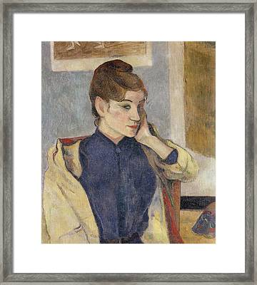 Portrait Of Madeleine Bernard Framed Print by Paul Gauguin