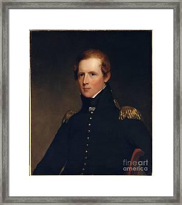 Portrait Of Major John Biddle Framed Print
