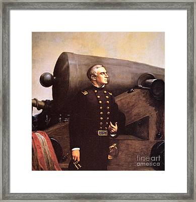 Portrait Of Major Robert Anderson Framed Print