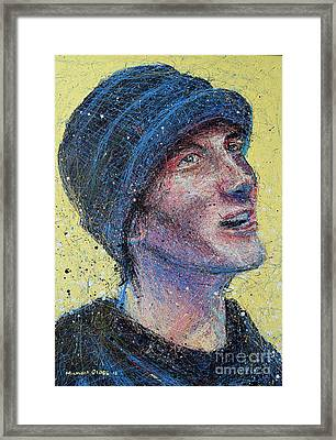 Portrait Of Man  Framed Print by Michael Glass