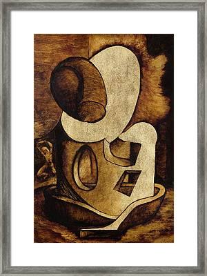 Portrait Of Man - The Fetal Penis Framed Print