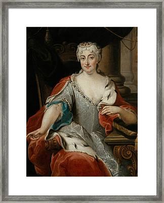Portrait Of Maria Clementina Sobieska Framed Print