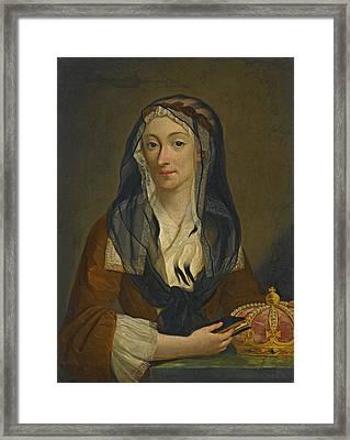 Portrait Of Maria Clementina Sobieska Framed Print by Studio of Antonio David