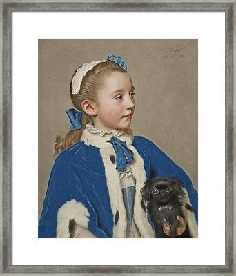 Portrait Of Maria Frederike Van Reede-athlone At Seven Years Of Age Framed Print