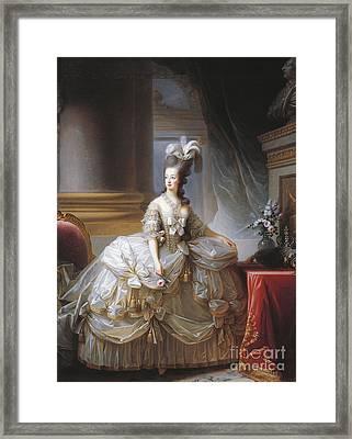 Portrait Of Marie Antoinette Framed Print by Elisabeth Louise Vigee-Lebrun