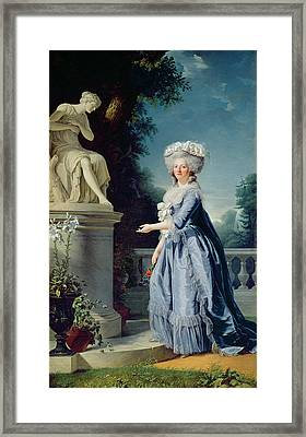 Portrait Of Marie-louise Victoire De France Framed Print by Adelaide Labille-Guiard
