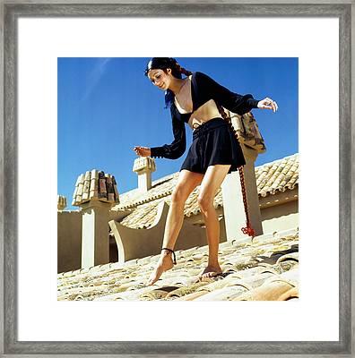 Portrait Of Marisa Berenson Framed Print by Henry Clarke