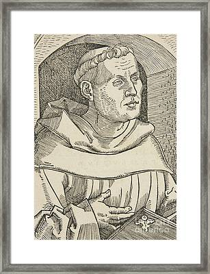 Portrait Of Martin Luther Framed Print