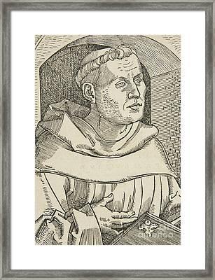 Portrait Of Martin Luther Framed Print