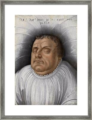 Portrait Of Martin Luther On His Death-bed Framed Print