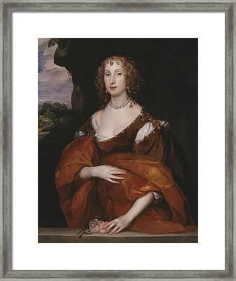 Portrait Of Mary Hill, Lady Killigrew Framed Print