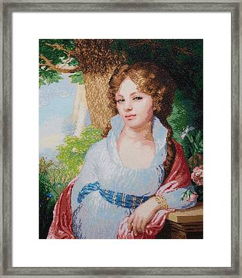 Portrait Of M.i. Lopukhina Framed Print by Elena Soldatkina