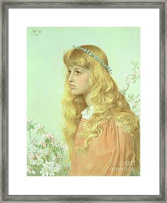 Portrait Of Miss Adele Donaldson, 1897 Framed Print by Anthony Frederick Augustus Sandys