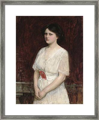 Portrait Of Miss Claire Kenworthy Framed Print