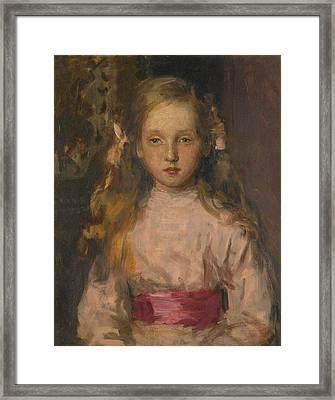 Portrait Of Miss Elisabeth Cary Elwes Framed Print