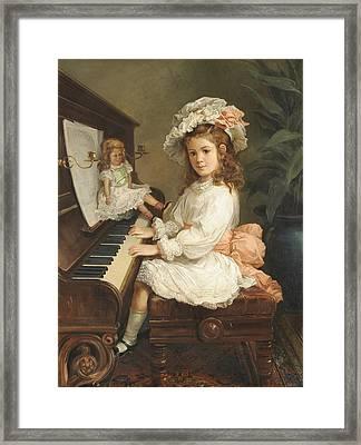 Portrait Of Miss Winifred Hudson Framed Print by MotionAge Designs