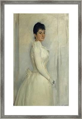 Portrait Of Montserrat Carbo Framed Print