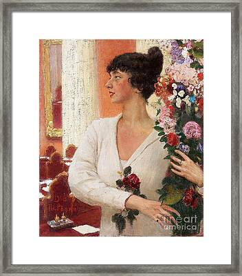 Portrait Of Mrs Beatrice Levi Framed Print by MotionAge Designs