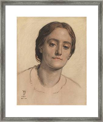 Portrait Of Mrs Edith Holman Framed Print by William Holman