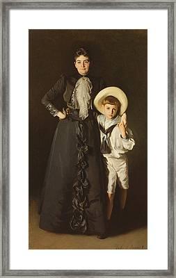 Portrait Of Mrs Edward L Davis And Her Son, Livingston Davis, 1890 Framed Print by John Singer Sargent